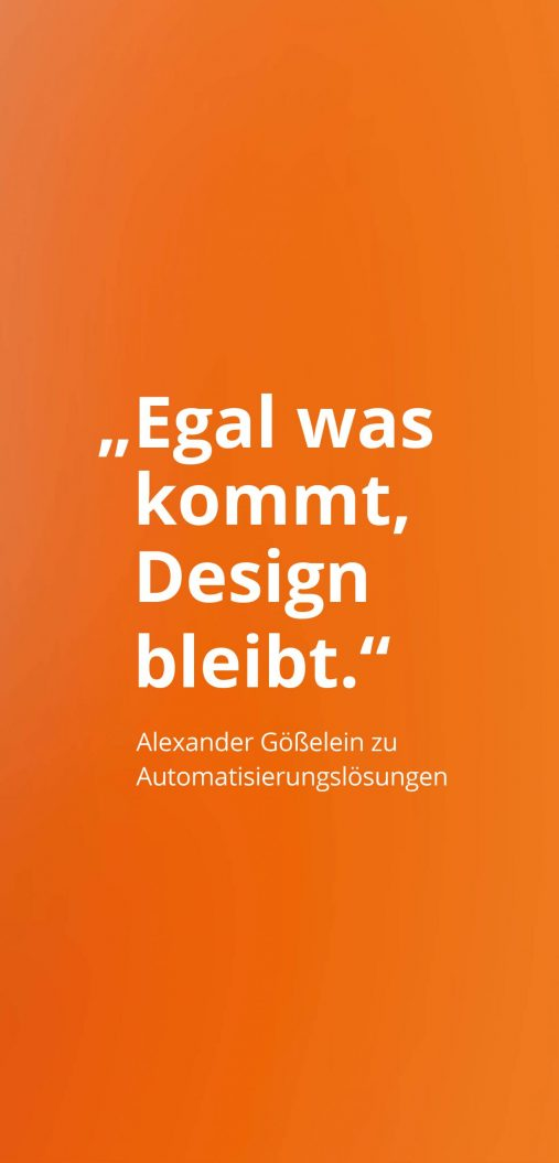 Alexander Goesselein: Egal was kommt, Design bleibt.